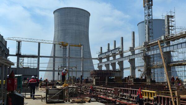 Строительство энергоблока АЭС, фото из архива - Sputnik Азербайджан