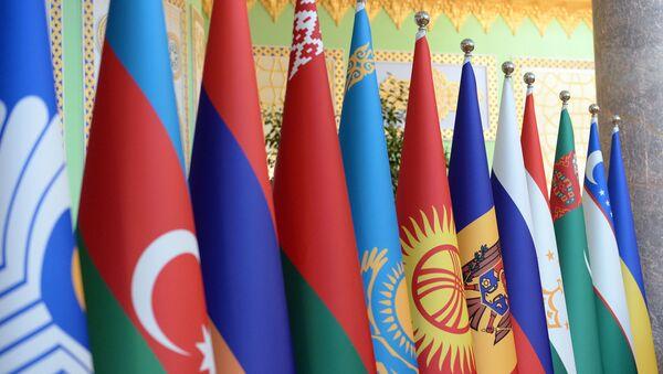 Эмблема и флаги участников Содружества Независимых Государств - Sputnik Азербайджан