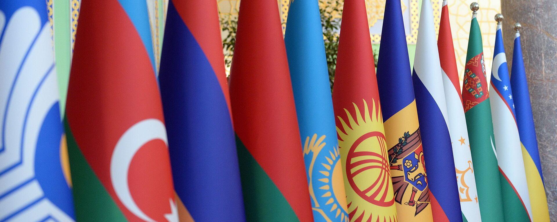 Эмблема и флаги участников Содружества Независимых Государств - Sputnik Азербайджан, 1920, 13.10.2019