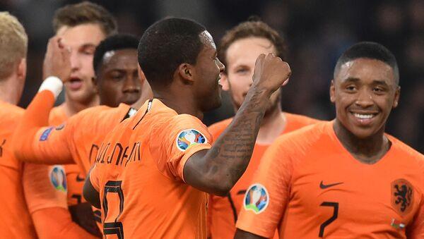 Футболисты сборной Нидерландов - Sputnik Азербайджан