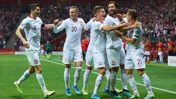 Футболисты сборной Польши - Sputnik Азербайджан