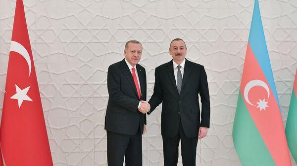 Президент Азербайджана Ильхам Алиев и Президент Турции Реджеп Тайип Эрдоган - Sputnik Azərbaycan