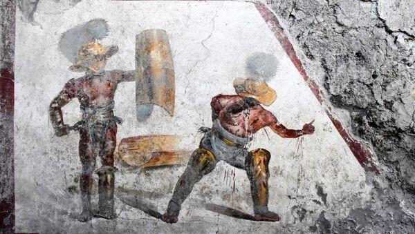Pompeydə tapılan qladiatorların döyüşü olan rəsm - Sputnik Azərbaycan
