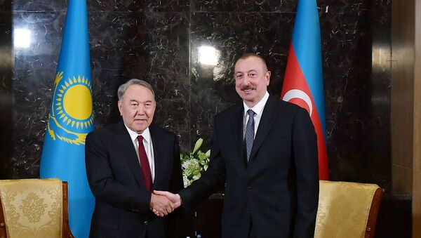 İlham Əliyev və Nursultan Nazarbayev - Sputnik Azərbaycan