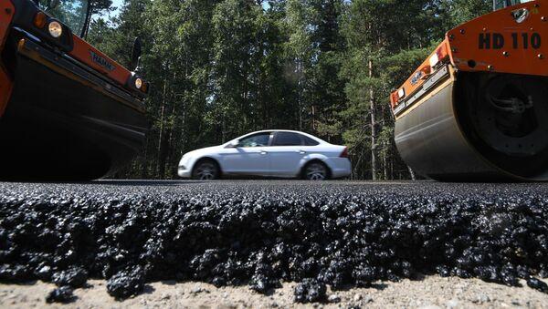 Ремонт автодорог, фото из архива - Sputnik Azərbaycan