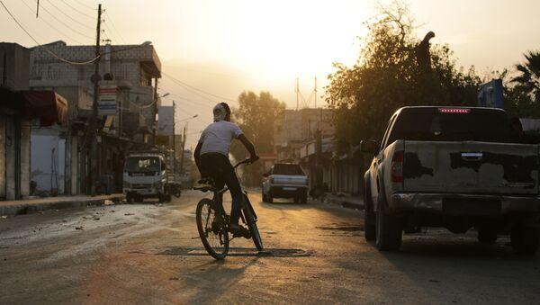 Сирийский пограничный город Тал Абьяд, фото из архива - Sputnik Azərbaycan