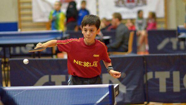 11-летний теннисист из Азербайджана Адиль Ахмедов - Sputnik Азербайджан