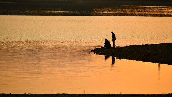 Рыбаки на берегу, фото из архива - Sputnik Azərbaycan