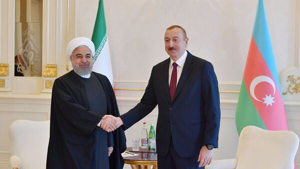 Президент Азербайджана Ильхам Алиев и Президент Ирана Хасан Рухани - Sputnik Azərbaycan