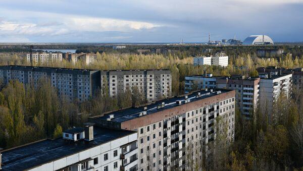 Çernobılda binalar, arxiv şəkli - Sputnik Azərbaycan