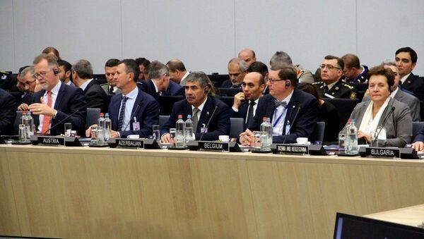 Закир Гасанов на заседании НАТО в Брюсселе - Sputnik Азербайджан