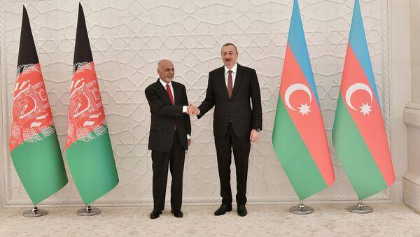 Президент Азербайджана Ильхам Алиев встретился с президентом Афганистана Мохаммедом Ашрафом Гани - Sputnik Azərbaycan
