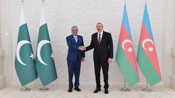 İlham Əliyevin Pakistan Prezidenti Arif Alvi ilə görüşü olub - Sputnik Azərbaycan