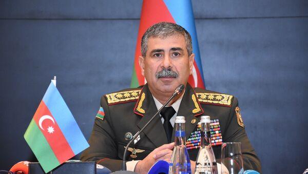 Mинистр обороны Азербайджана Закир Гасанов - Sputnik Азербайджан