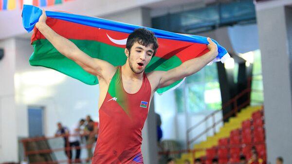 Азербайджанский борец вольного стиля Туран Байрамов - Sputnik Азербайджан