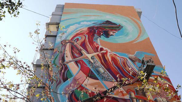 Как улицы Баку превращаются в галерею уличного искусства - Sputnik Азербайджан