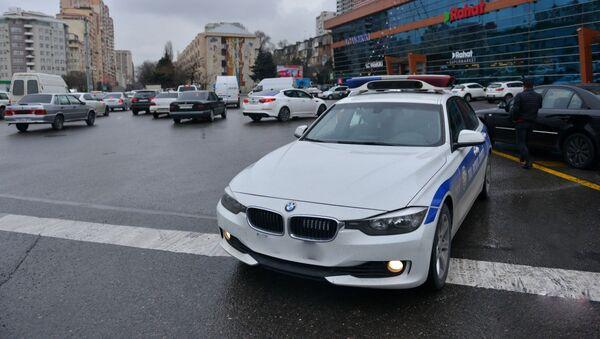 Автомобиль дорожной полиции - Sputnik Азербайджан