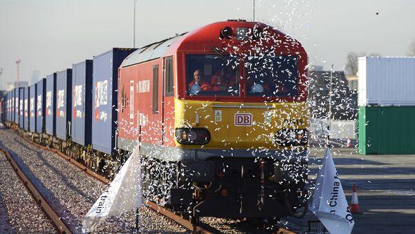 Грузовой поезд Китая, фото из архива - Sputnik Азербайджан