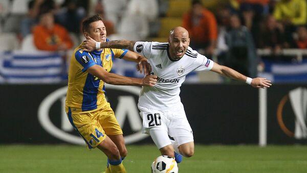 Матч четвертого тура группы A Лиги Европы по футболу между кипрским АПОЭЛ и азербайджанским Карабахом - Sputnik Азербайджан