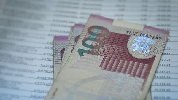 Купюра номиналом в  100 AZN, фото из архива - Sputnik Азербайджан