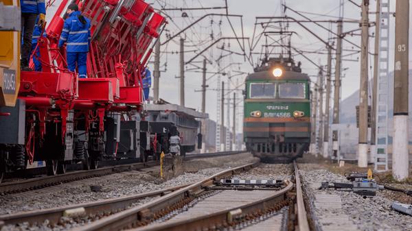 Строительство железной дороги, фото из архива - Sputnik Азербайджан