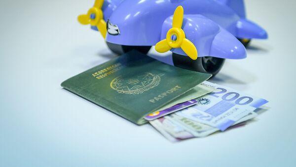 Паспорт гражданина Азербайджана, игрушка, манаты и доллары разных номиналов, фото из архива - Sputnik Azərbaycan