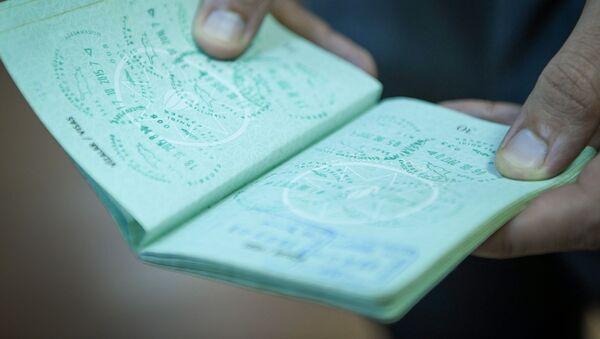Место для виз в паспорте гражданина Азербайджана, фото из архива - Sputnik Азербайджан