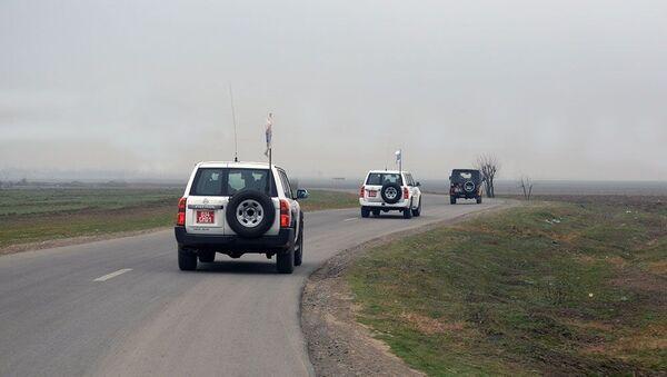Мониторинг ОБСЕ на линии соприкосновения войск Азербайджана и Армении - Sputnik Азербайджан