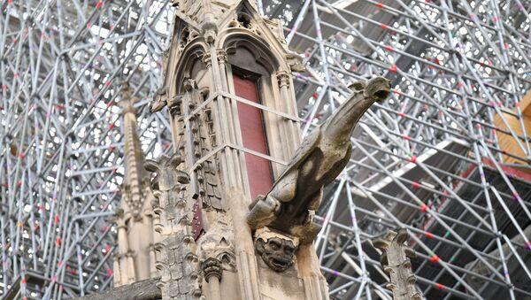 Первая месса после пожара в соборе Парижской Богоматери - Sputnik Азербайджан