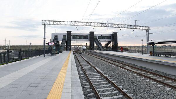 Pirşağı dəmir yolu stansiyası - Sputnik Азербайджан