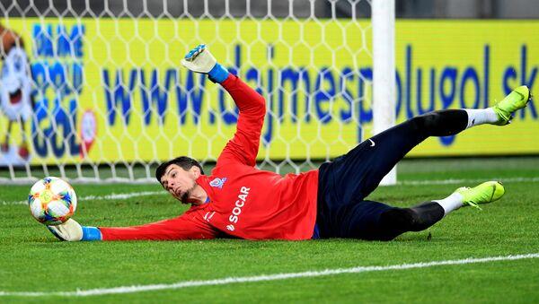 Вратарь сборной Азербайджана Эмиль Балаев, фото из архива - Sputnik Азербайджан
