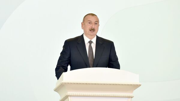 Президент Азербайджана Ильхам Алиев - Sputnik Азербайджан