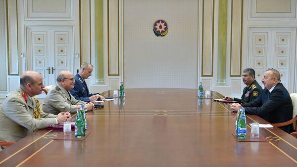 Prezident İlham Əliyev NATO-nun Hərbi Komitəsinin sədri Ser Stüart Piiçin başçılıq etdiyi nümayəndə heyətini qəbul edib - Sputnik Азербайджан