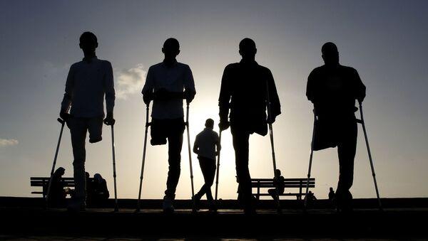 Инвалиды, фото из архива - Sputnik Азербайджан