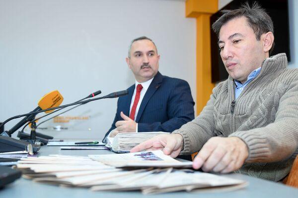 Пресс-конференция, посвященная проблемам трудовых мигрантов в Азербайджане - Sputnik Азербайджан