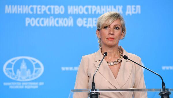 Rusiya Xarici İşlər Nazirliyinin rəsmi nümayəndəsi Mariya Zaxarova - Sputnik Азербайджан