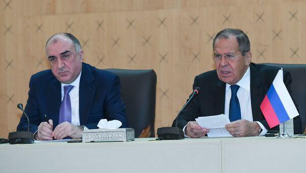 Пресс-конференция Лаврова и Мамедъярова в Баку - Sputnik Азербайджан