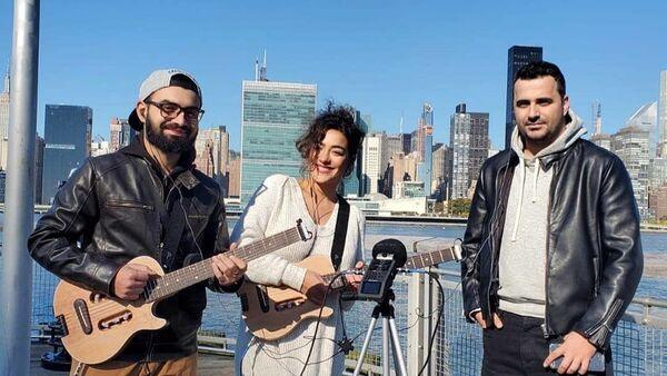 Азербайджанские исполнители Ризван Алиев, Ройа Мириева и Орхан Зейналлы, переехавшие в Америку - Sputnik Азербайджан