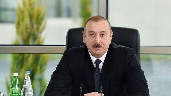 Prezident İlham Əliyev Şamaxıda ASAN Həyat kompleksinin açılışında  - Sputnik Азербайджан