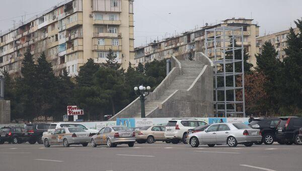 Ukrayna dairəsindəki keçidin tikintisi - Sputnik Азербайджан