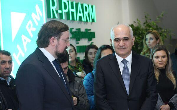 Церемония сдачи в эксплуатацию фармацевтического комплекса R-Pharm на территории Пираллахинского промышленного парка - Sputnik Азербайджан