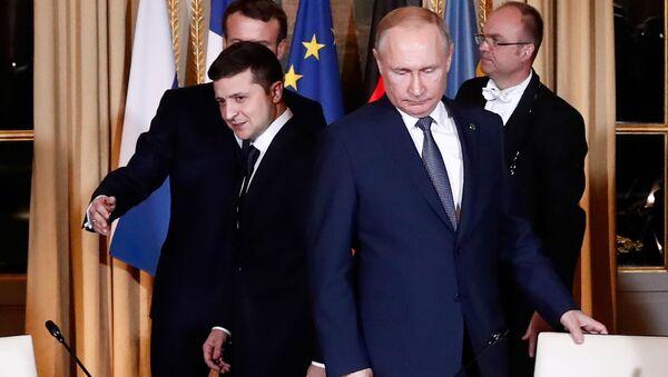 Встреча глав государств-участников Нормандского формата в Елисейском дворце - Sputnik Azərbaycan