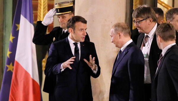 Встреча глав государств-участников Нормандского формата в Елисейском дворце - Sputnik Азербайджан