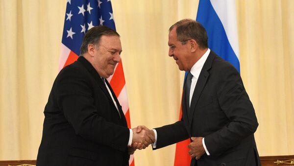Встреча главы МИД РФ С. Лаврова с госсекретарем США М. Помпео - Sputnik Азербайджан