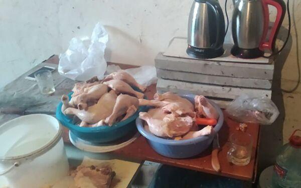Цех по переработке куриного мяса в Гяндже - Sputnik Азербайджан
