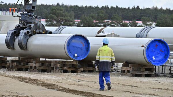 Строительство газопровода Северный поток-2, фото из архива - Sputnik Азербайджан