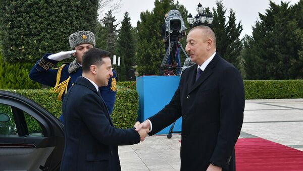Встреча Президента Азербайджана Ильхама Алиева и Президента Украины Владимира Зеленского - Sputnik Азербайджан