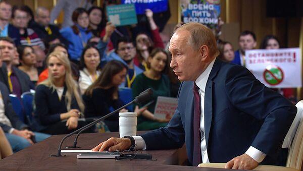 Боятся вашей правды - Путин об угрозах властей Эстонии в адрес сотрудников Sputnik Эстония  - Sputnik Азербайджан