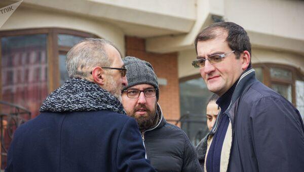 Цотне Гамсахурдия на акции в поддержку Георгия Мамаладзе - Sputnik Азербайджан