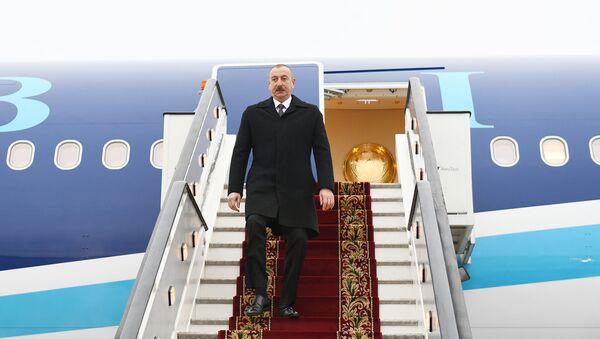 Prezident İlham Əliyev Rusiyaya səfərə gedib - Sputnik Азербайджан